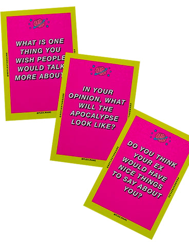 REFLEX CONVERSATION CARD GAME - PINK #1