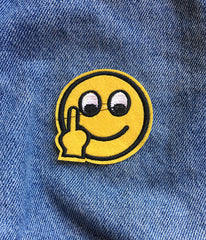 RUDE EMOJI IRON ON PATCH