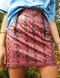 ZIPPY SNAKE SKIRT