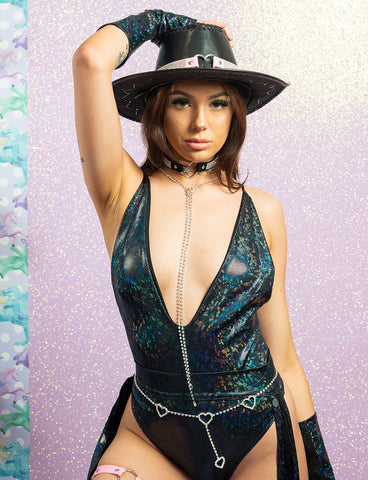 HOLOGRAPHIC VIXEN BODYSUIT *4 COLOURS*