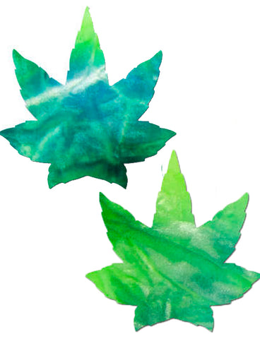 WEED NIPPLE PASTIES - SEA TIE DYE