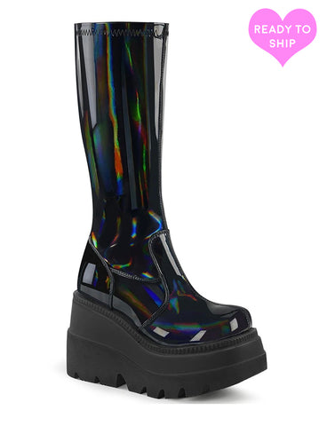 SHAKER 65 BOOTS - PATENT BLACK