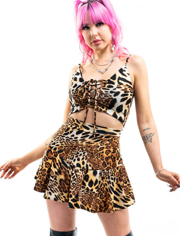 SHIVON SKIRT - QUEEN LEOPARD