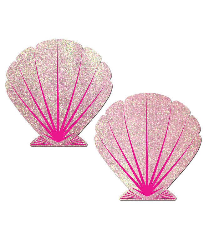 MERMAID SHELL NIPPLE PASTIES - PINK