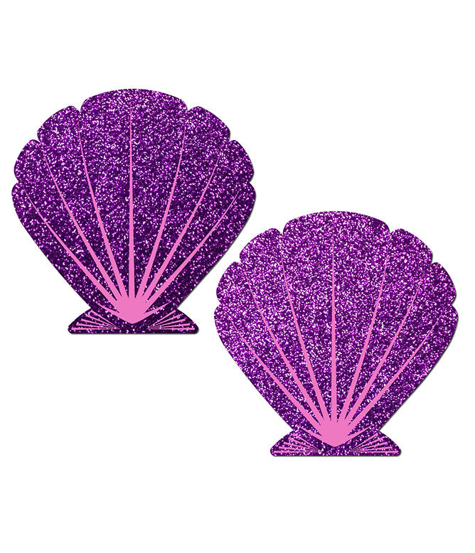 MERMAID SHELL NIPPLE PASTIES - PURPLE