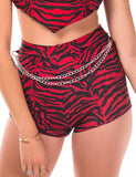 SIA SHORTS - RED ZEBRA