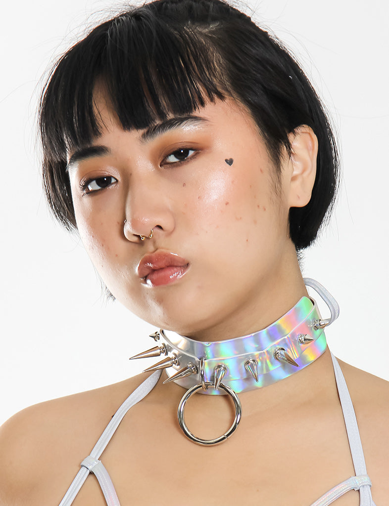 INTO THE UNKNOWN 2.0 CHOKER - SILVER HOLO