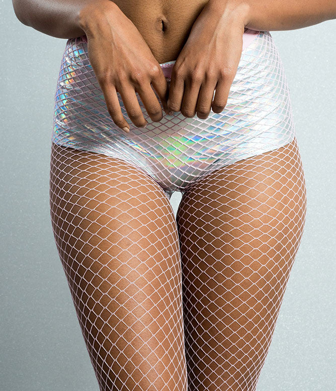 SMALL MESH FISHNET STOCKING - BABY PINK