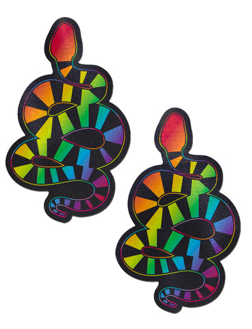 RAINBOW SERPENT NIPPLE PASTIES