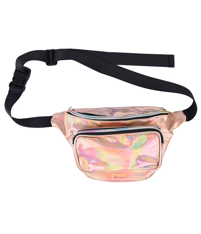 SPACE CADET HOLOGRAM BUM BAG - ROSE GOLD