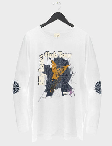 Spider Long Sleeve Tee - White