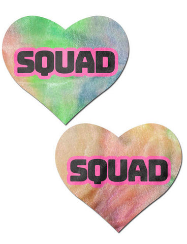 HEART NIPPLE PASTIES - RAINBOW SQUAD