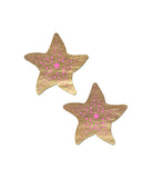 SHIMMERING GOLD STARFISH NIPPLE PASTIES