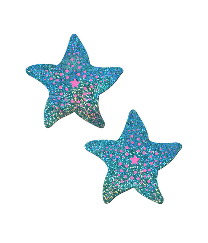 TWINKLING SEAFOAM STARFISH NIPPLE PASTIES