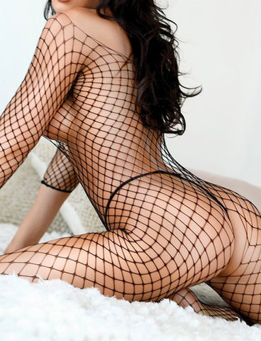 ELASTIC FISHNET BODYSUIT / BODY STOCKING