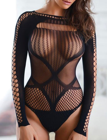 JUICY FISHNET BODYSUIT / BODY STOCKING