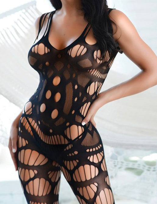 LOUNGIN' FISHNET BODYSUIT / BODY STOCKING