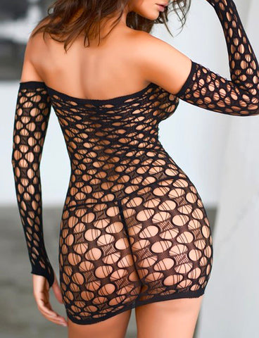 DROP FISHNET BODYSUIT / BODY STOCKING