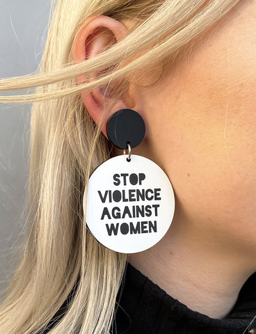 STOP VIOLENCE AGAINST WOMEN EARRINGS