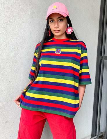 PRIMARY STRIPE T SHIRT