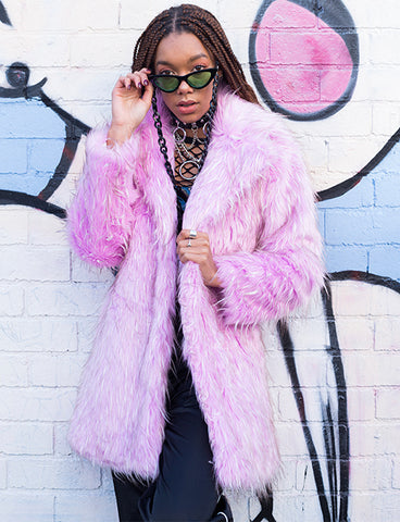 SUGAR HIGH FAUX FUR JACKET