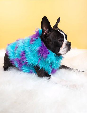 SULLY FAUX FUR DOG JACKET