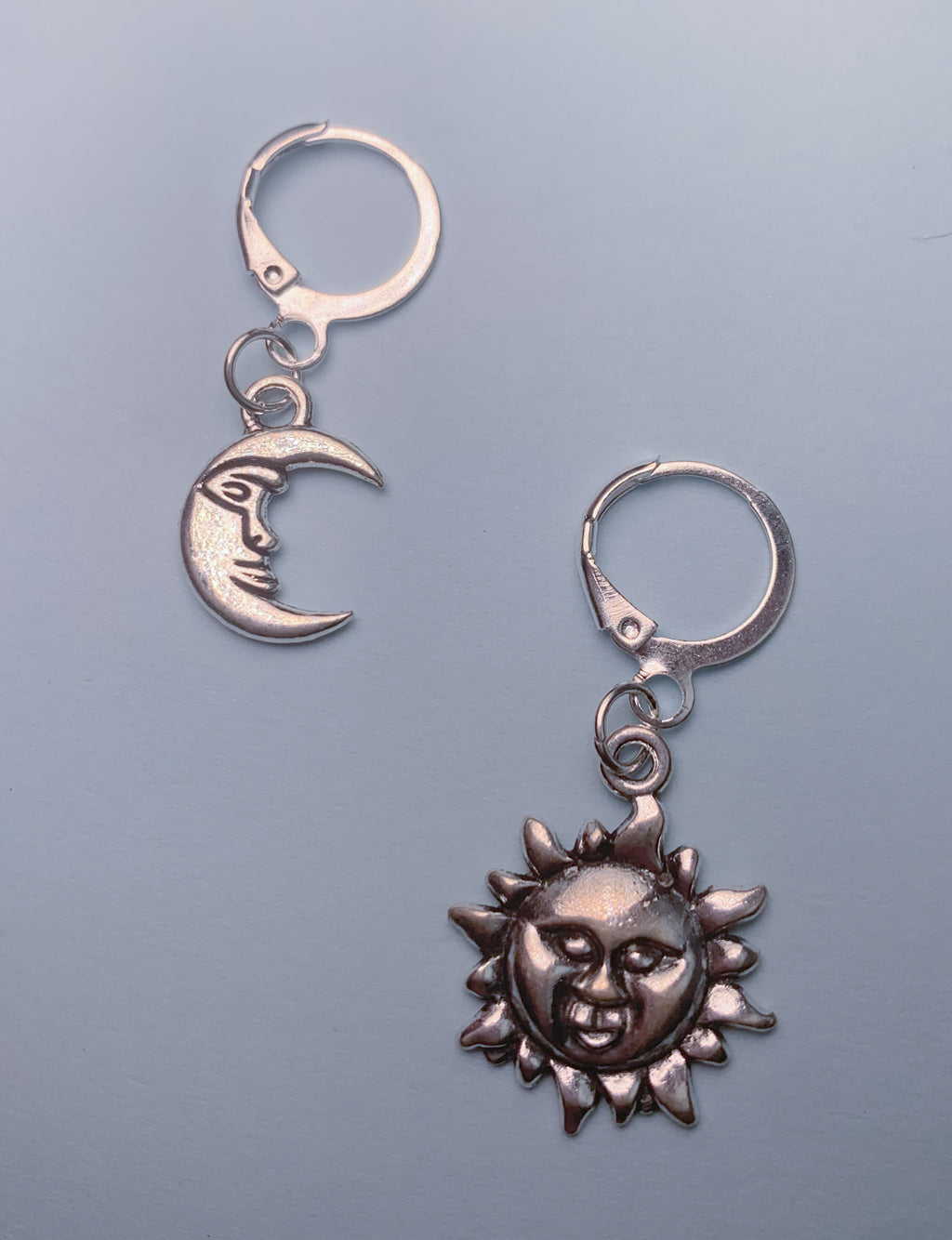 SUN & MOON MINI HOOP EARRINGS