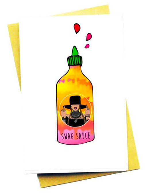 SWAG SAUCE GREETING CARD