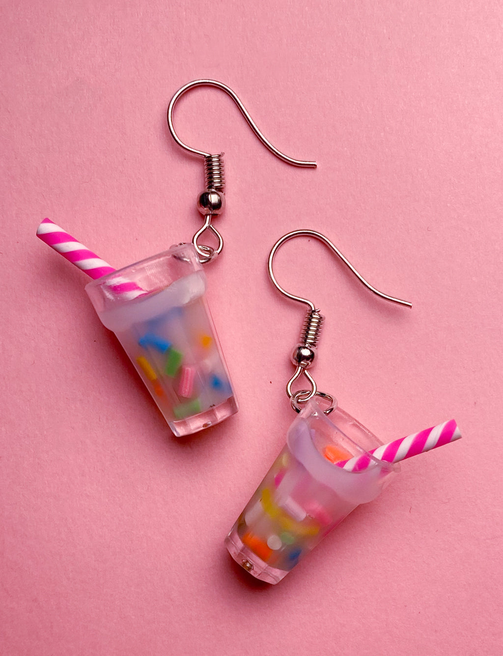 MILKSHAKE EARRINGS - SPRINKLES