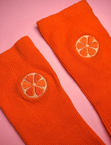 FEAST ON FRUIT SOCKS - TANGERINE