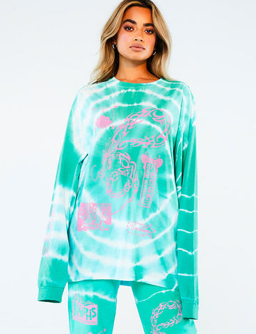 TRIBAL DRAGON LONG SLEEVE TOP