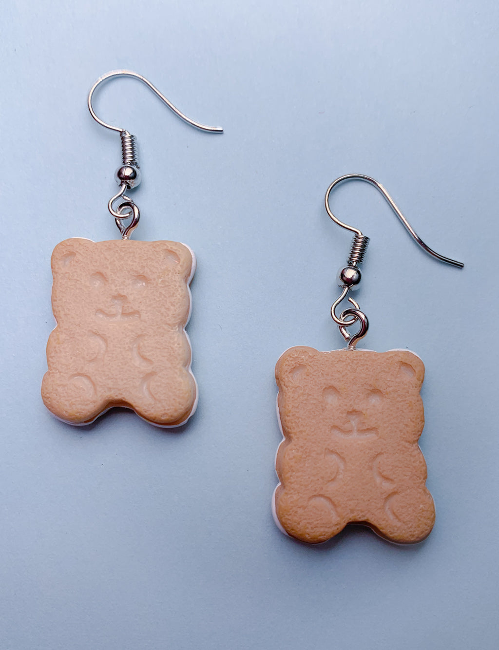 TEDDY BEAR BISCUIT EARRINGS