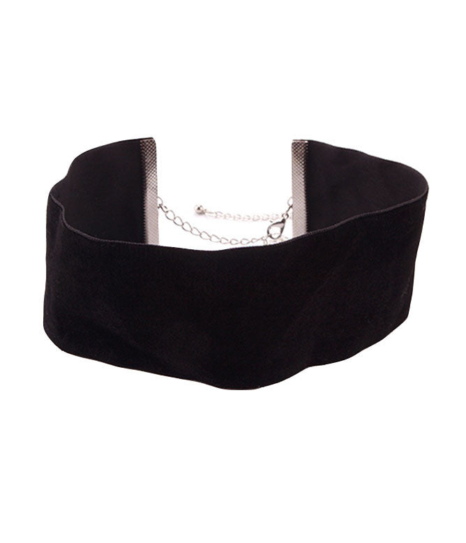 BLACK NIGHT VELVET CHOKER - THICK