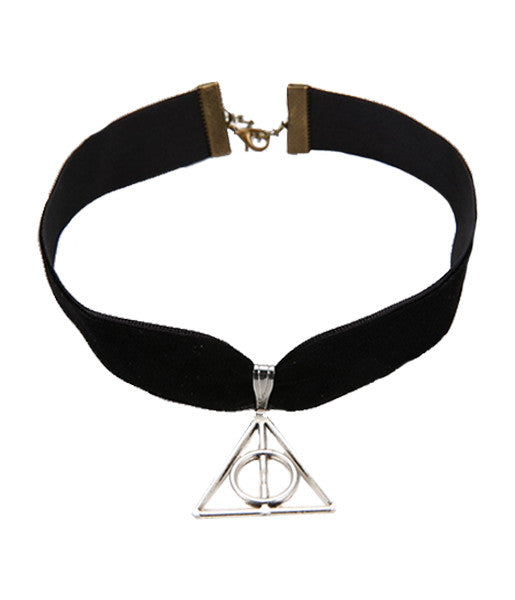 THREE POINT VELVET CHOKER