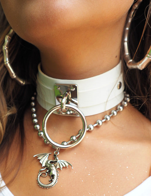 INTO THE UNKNOWN CHOKER - WHITE