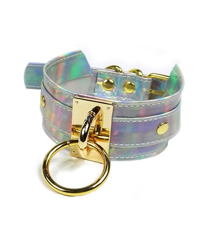 INTO THE UNKNOWN HOLOGRAM CHOKER - GOLD