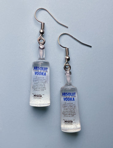 ABSOLUTE VODKA EARRINGS