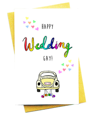 HAPPY WEDDING GAY GREETING CARD