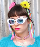 TEEN SPIRIT SHADES - WHITE BLUE LENS
