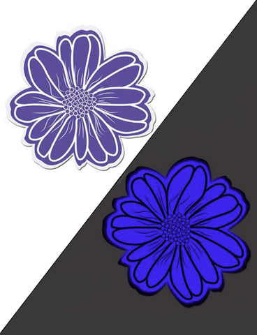 WILD FLOWER NIPPLE PASTIES - VIOLET GLOW IN THE DARK