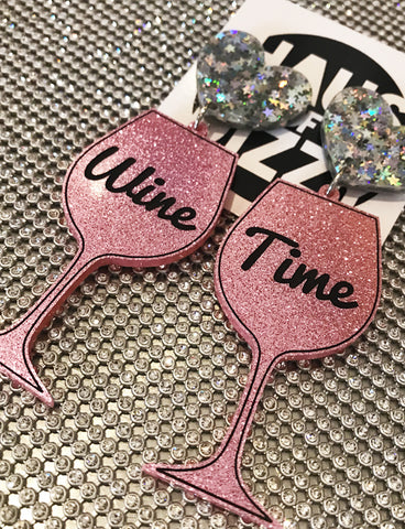 WINE TIME EARRINGS - ROSÉ