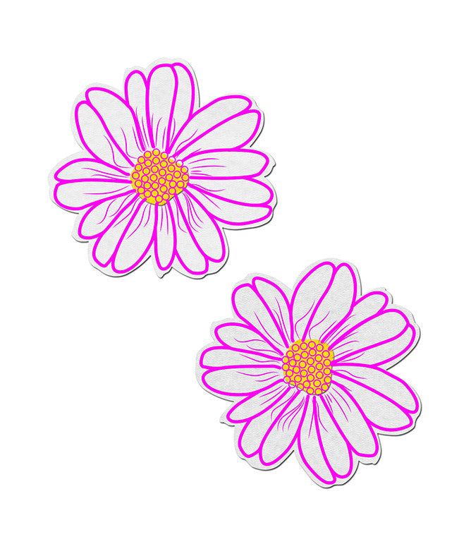 WILD FLOWER NIPPLE PASTIES - NEON PINK