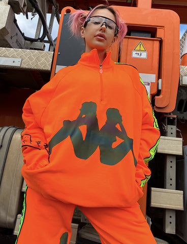 KAPPA X CYBERDOG RETRO WINDCHEATER - ORANGE