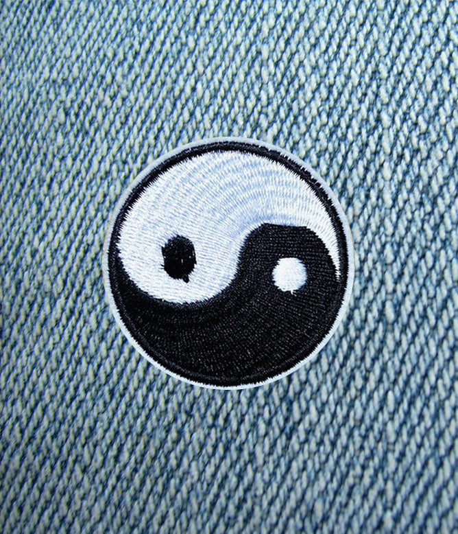 YIN YANG IRON ON PATCH