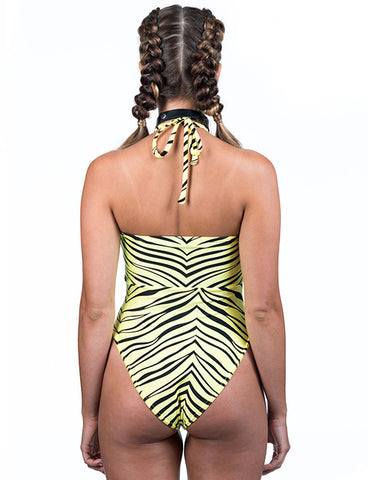SHENEL LEOTARD - YELLOW ZEBRA