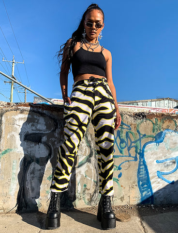BADLANDS PARTY PANTS - ZEBRA