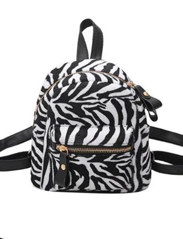 SAFARI NIGHTS MINI BACKPACK - ZEBRA