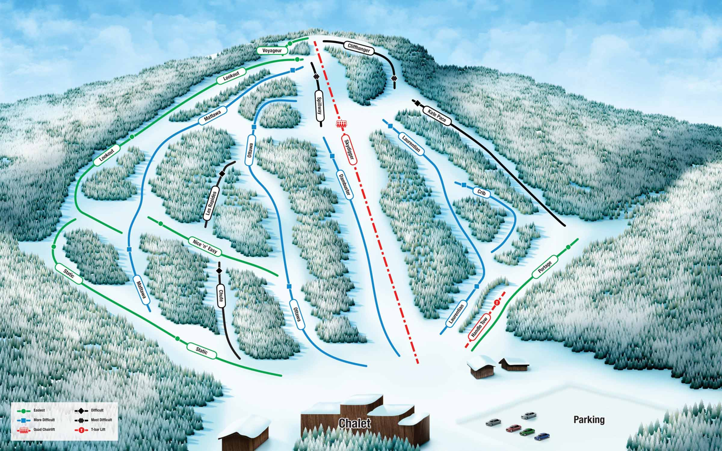 Antoine Mountain map of runs. Contact us for more details.