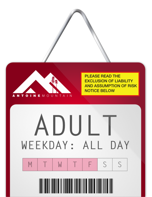 Adult (18-64) 1 Day Lift Ticket - Weekday