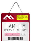 Family 1 Day Lift Tickets - Weekday